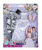 Simba Steffi Love Wedding Fashion - Vestido de Novia romántico y Traje de Boda, Incluye Zapatos y Tiara, para muñecas de 29 cm y 30 cm, sin muñeca, para niños a Partir de 3 años