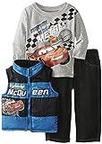 Disney Baby Boys' Cars 3 Piece Nyon Vest Set, Blue, 12 Months