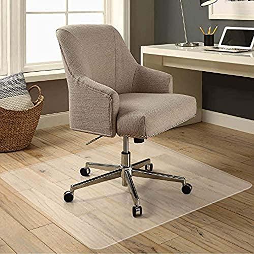 Protector de piso de 1,5 mm de grosor, anti arañazos, alfombrilla de silla de PVC para rodar alfombra de pelo bajo, tapete de oficina para piso de madera dura 60 x 60 cm (XXS)