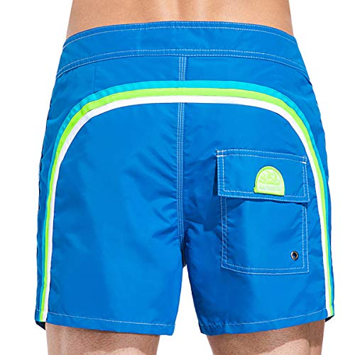 Sundek BS/Rs-Low Rise Pantaloncini, Blu (Ocean 504), Large (Taglia Produttore:33) Uomo