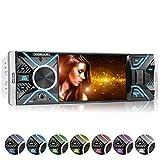 XOMAX XM-V417 Autoradio mit 4.1' / 10 cm Bildschirm I Bluetooth Freisprecheinrichtung I USB, SD, AUX I RDS I Anschlüsse für Rückfahrkamera und Lenkradfernbedienung I 7 Beleuchtungsfarben...