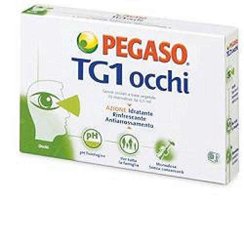 PEGASO Integratore Alimentare Tg1 Occhi Gocce Oculari A Base Vegetali, 10 Monodose Da 0.5 ml