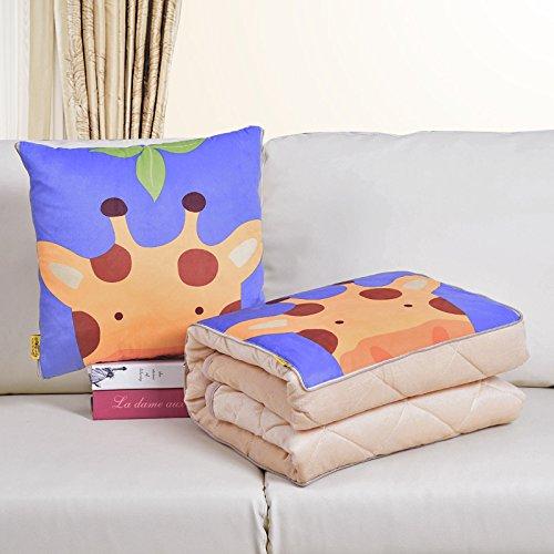 SCBED Pequeña Serie de Frescos del Invierno cálido Almohada cojín sofá es Espesada,40x40cm (110 * 150),Cashmere Leaf Jirafa