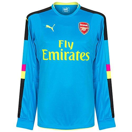 Puma 2016-2017 Arsenal Away LS Goalkeeper Football Soccer T-Shirt Trikot (Blue)