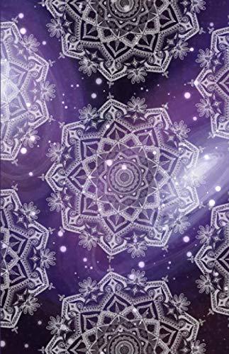 Dot Grid Journal: Galaxy Purple Sky Mandala Notebook, Bullet Dotted Grid, (5.5 x 8.5)