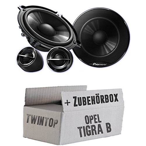 Pioneer TS-G133Ci - 13cm Lautsprechersystem - Einbauset für Opel Tigra B Twin Top - JUST SOUND best choice for caraudio