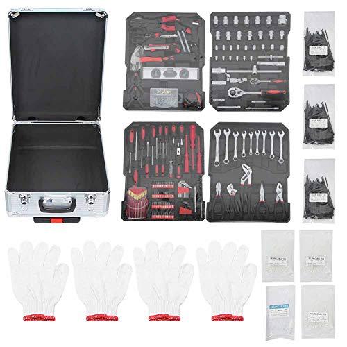 Maletín de herramientas para la reparación y el mantenimiento diario de la caja de herramientas con maletín de almacenamiento de plástico, 37 x 23 x 50 cm