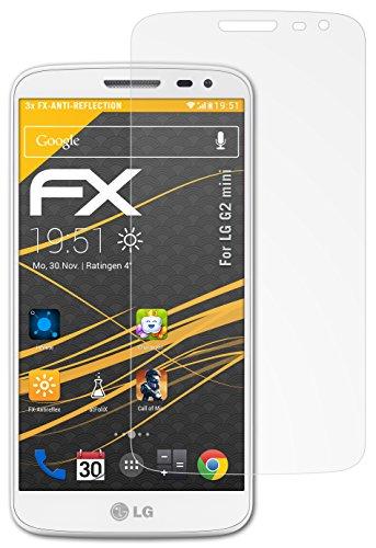 atFolix Panzerfolie kompatibel mit LG G2 Mini Schutzfolie, entspiegelnde & stoßdämpfende FX Folie (3X)