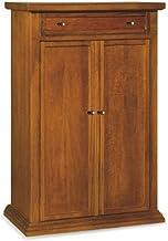 Armadio scarpiera legno nobilitato 2 ante noce antico 4 ripiani 130x71x38