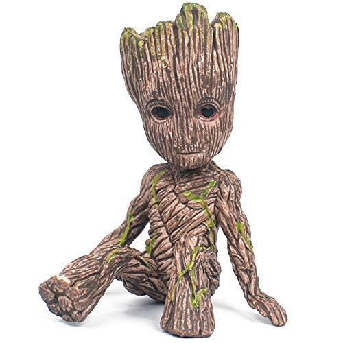 YUY Guardianes De La Galaxia 2 Figuras De Groot Sentado Groot árbol Personas Decoración De Bebé Estatua Figuras Modelo Juguetes Hechos A Mano