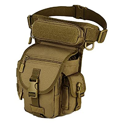 BootKitchenTan Military Tactical Drop Leg Bag Tool Fanny Thigh Packs for Motorcycle Outdoor Bike Cycling traivel (Sand Color)