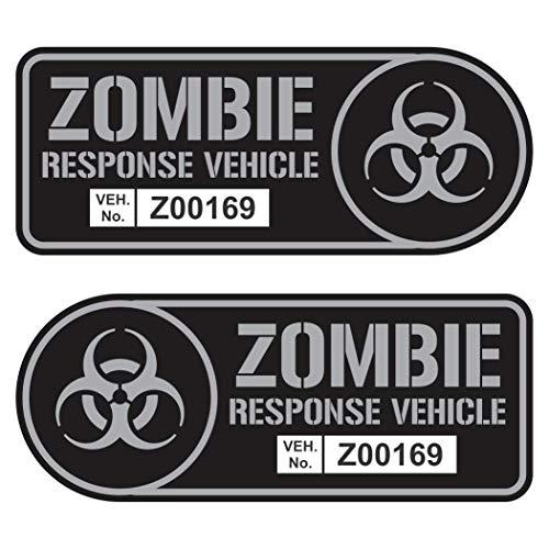 Zombie Response Vehicle Sticker Set Vinyl Decal Gun Metal Car Truck SUV Decal Badge Halloween