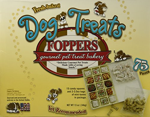 Foppers Gourmet Pet Treat Bakery Dog Treats - 75 Pieces
