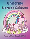 Unicornio Libro de Colorear para Niños de 4 a 8 Años: Relajantes Libros Para Colorear Para Niños , Libro De Animales, Actividades y Aprendizaje Para Niños (Español)