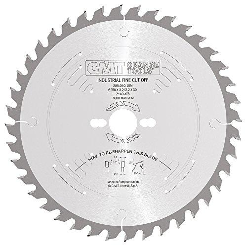CMT Orange Tools 285.040.10M - Sierra circular 250x3.2x30 z 40 atb 10 grados silenciosa