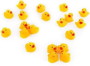 Ogquaton Cute Bath Duck Toy Baby Bathtime Water Toys Squeaky Rubber Duck para Baby Bathtime Pack de 60