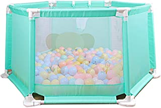 XHJYWL Playpen Infant  amp  Baby  Portable Washable Play Yard Security Fence for Toddler Green