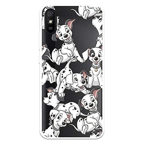 Funda para Xiaomi Redmi 9A - Redmi 9AT Oficial de 101 Dálmatas Cachorros Siluetas para Proteger tu móvil. Carcasa para Xiaomi de Silicona Flexible con Licencia Oficial de Disney.