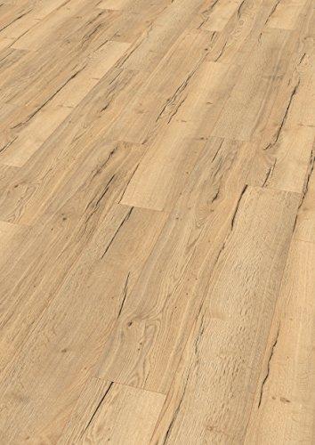 EGGER Home Designboden braun - Monfort Eiche natur EHD014 (5mm kompakt, 1,989 m²) Klick Design Laminat robust, strapazierfähig, pflegeleicht, wasserfest und PVC frei
