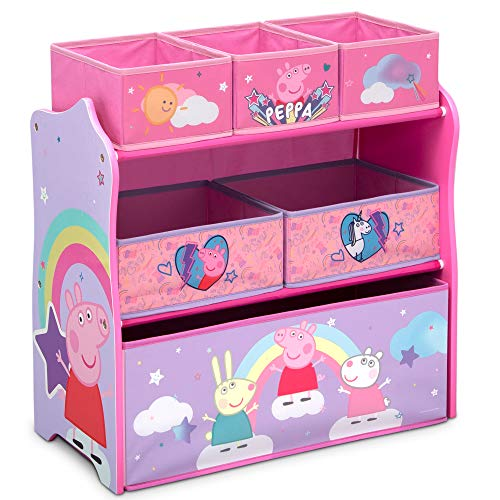 Delta Children Design & Store 6 Bin Toy Storage Organizer, Peppa Pig