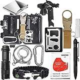 Kit de Supervivencia,17-in-1 para Viajar Caminar Acampar al Aire,Paquete de Supervivencia de Bolsa de Herramientas,con Manta de Emergencia y Multifuncional