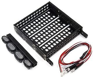 Yeah Racing  1/10 RC Rock Crawler Accessories Aluminum Luggage Tray w/ 4 White Light -YA-0381