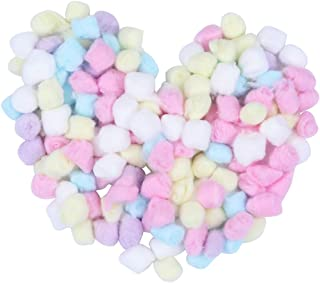 Lurrose 1 Bag/500g Colored Cotton Balls Makeup Cotton Balls Degreasing Cotton Ball for for Face Cleansing & Makeup Removal Beauty Salon Home Use