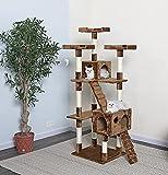 Go Pet Club 72' Cat Tree Condo Furniture - Brown