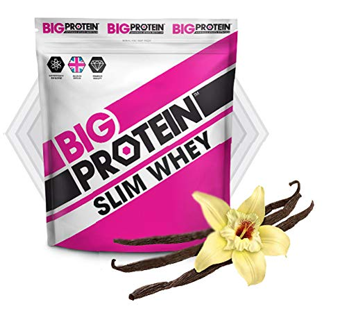 Proteína Slim Whey en Polvo. Batidos de Recuperación Bajos en Carbohidratos para Adelgazar. Proteína Baja en Calorías para Modelar la Masa Muscular. Sabor Exquisito a Vainilla