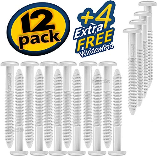 Window Shutters Panel Peg Loks 3 inch 12 Pack (White) Buy One Bag of 12 Loks and Get 4 Extra Shutter Peg Loks Free