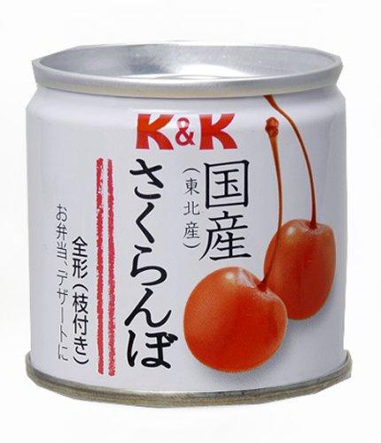 K&K 国産さくらんぼ缶 90g×6個
