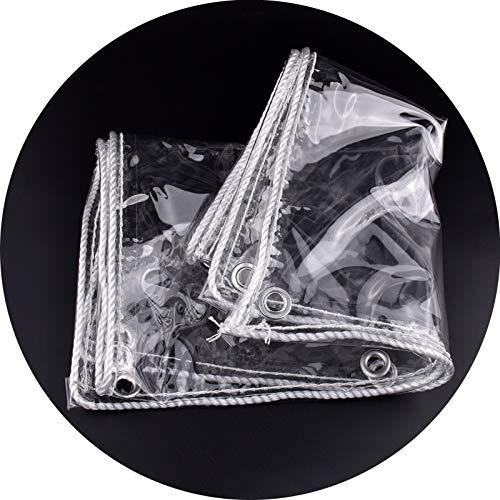 LM XINGLL - Lona impermeable transparente de alta resistencia, resistente a las heladas, resistente a la luz, no se deforma fácilmente, 400 g/㎡, 0,3 mm (color: transparente, tamaño: 2 x 4 m)