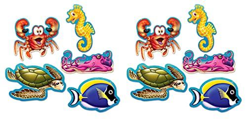 """Beistle Mini Under The Sea Cutouts, 5"""", Multicolor"""