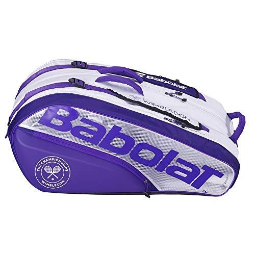 Babolat RH12 Pure Wimbledon - Borsa per Racchetta, per Adulti, Unisex, Colore: Bianco, Taglia Unica