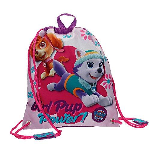 La Patrulla Canina-4783751 Bolsa de merienda, Color Rosa, 30 cm (Joumma 47837)