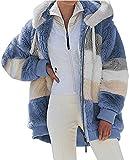 ABINGOO Mujer Abrigo Invierno Chaqueta Talla Grande Sudaderas con capucha Grueso Abrigo Cálido Outerwear con Bolsillo Cremallera Cardigan