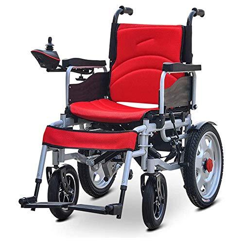 Aabbcdf Klappbare tragbarer Elektrorollstuhl, Elektro-Rollstuhl, 360 ° Joystick All Terrain, Doppel-Motorleistung, mit Doppelfunktion, für Behinderte und ältere