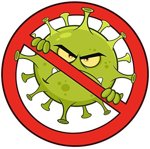 Fun Aufkleber Anti Virus - Anti Corona, lustige Motive für alle welche die Welt Nicht nur schwarz-weiß sehen!