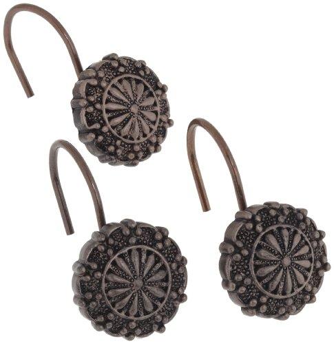 Carnation Home Fashions Sheffield Duschvorhang-Haken, Keramik, Harz Set of 12 Oil Rubbed Bronze