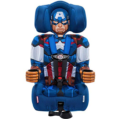 KidsEmbrace 2-in-1 Harness Booster Car Seat, Marvel Avengers Captain America