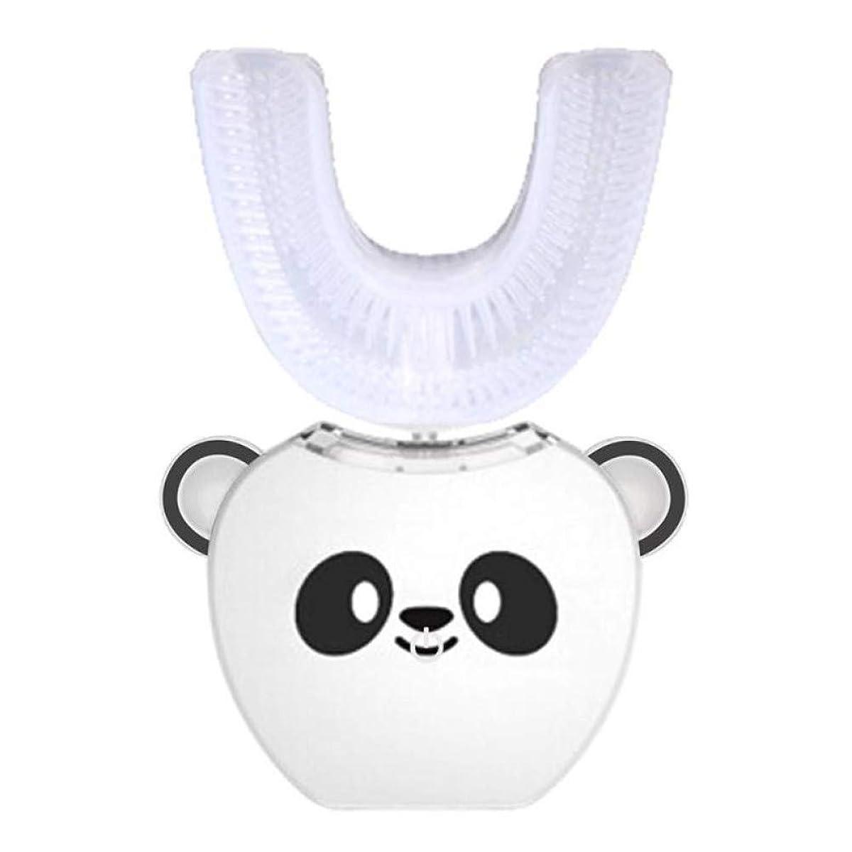 可動式厚い静けさ電動歯ブラシU型Usb充電歯ホワイトニング360度インテリジェント自動ソニック電動歯ブラシ、A