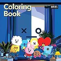 防弾少年団 - BTS BT21 OFFICIAL COLORING BOOK Season 1 + 46 Stickers +Gift Photocards
