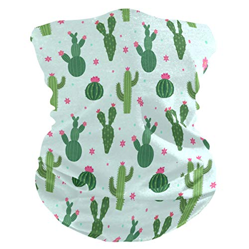 Sawhonn cactusbloem groen gestippeld halsdoek mascara gezichtsmasker bandana haarband bivakmuts hoofdband hoofdband hoofdband sjaal voor sport dames heren