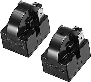 uxcell 2 Pcs 4.7 Ohm 2 Pin Refrigerator PTC Start Relay for Compressor Black