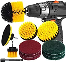 Electric Drill Brush Set Bathroom Surface Bath, Shower, Tile and Grout Universal Power Scrubber Cleaning Kit (Color : 12pc...