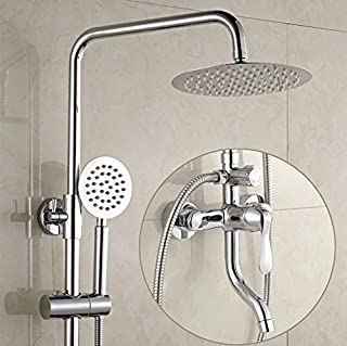 Hlluya Professional Sink Mixer Tap Kitchen Faucet The bathrooms are All Copper Shower Switch hot and Cold Water faucets Flush Mixed Water Mixing Valve Electric Water Heater Shower kit