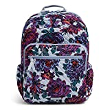 Vera Bradley Cotton XL Campus Backpack, Neon Blooms
