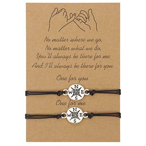 Opopark 2 pulseras de amistad Matching para mujer, niña, madre, hija, amigos, pareja y amante.