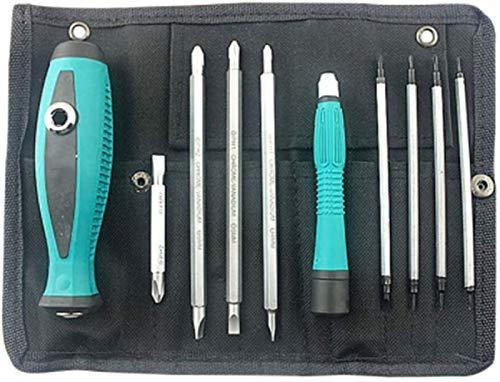 Herramientas para reparación de destornilladores combinados Juego de 10 piezas, electrodomésticos de desmontaje digital hardware multiusos herramienta reparación piezas