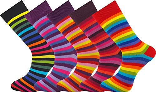Mysocks 5 pares de calcetines de hombre Extra fino de algodón peinado sin costura